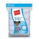 Hanes TV30P5 Ultimate TAGLESS Cotton Stretch Toddler Girls' Cami White 5-Pack