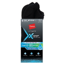 Hanes UL216 Ultimate Men's X-Temp FreshIQ Black No Show Socks 6-Pack