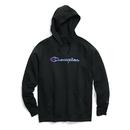 Champion W0934F-Y07461 Women Powerblend Fleece Pullover Hoodie Applique-Felt w/chainstitch