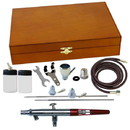 Paasche MIL-3WC Wood Box Set w/ MIL - All Three Heads & 1/8 BSP Adapter----product weight: 2.75