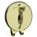 ProActive Sports Visor Clip w/Golfer Coin Antique Brass