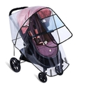 Muka EVA Multi-Size Clear Rain Cover for Baby Stroller Weather Shield with Ventilation Holes