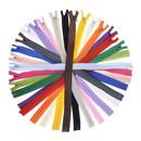 TOPTIE 100 Pieces Invisible Zipper Mix Color, #3 Bulk Concealed Zipper Premium Sewing Zippers