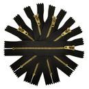 TOPTIE 100 Pieces Metal Zipper Brass Teeth #3 Zipper Jeans Heavy Duty Zippers