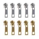 TOPTIE 100 Pcs Metal Zipper Repair Solution for #3 Nylon Zipper, Bulk for Coat Purse