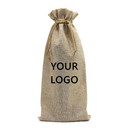 TOPTIE 60pcs Jute Wine Bags, 14 x 6 inch Reusable Champagne Bottle Bag Covers, Party Favors