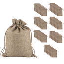 TOPTIE 50PCS Burlap Gift Bags with Drawstring, Linen Jewelry Pouches Bulk, Wedding Favors