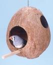 Penn-Plax Coconut Birdhouse - for Small Birds