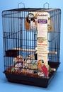 Penn-Plax Large Bird Kit - Black / Square Top
