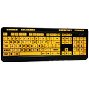 Adesso AKB-132UY EasyTouch 132 Luminous Large-Print Desktop Keyboard