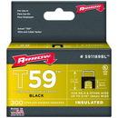 Arrow 591189BL Black T59 Insulated Staples for RG59 quad & RG6, 5/16