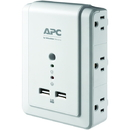 APC P6WU2 6-Outlet SurgeArrest Surge Protector Wall Tap with 2 USB Ports