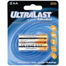 Ultralast ULA2AA AA Alkaline Batteries, 2 pk
