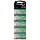 Dantona VAL-AG5-10 ValuePaq Energy AG5 Silver Oxide Alkaline Coin Cell Batteries, 10 pk