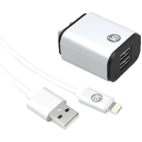 iEssentials IEN-ACL-22A 2.4-Amp USB Wall Charge with Lightning to USB-A Cable, 4ft