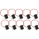Install Bay ATFH16C-10 ATC Fuse Holder with Cover, 10 pk (16 Gauge)