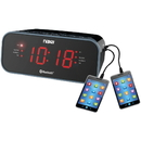 Naxa NRC-182 Bluetooth Dual Alarm Clock Radio with 2 USB Charge Ports