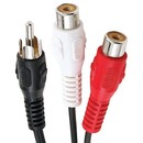 Axis PET20-7000 RCA Y-Adapter (1 RCA Plug to 2 RCA Jacks)