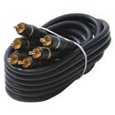 Steren 254-315BL Triple RCA Composite Video Cable (6ft)