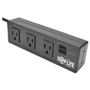 Tripp Lite TLP310USBC Protect It! 3-Outlet Surge Protector with 2 USB Ports & Desk Clamp