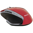Verbatim 99018 Wireless Notebook 6-Button Deluxe Blue LED Mouse (Red)