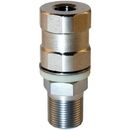 TRAM 208 Super Duty CB Stud Stainless Steel SO-239, All Thread and Contact Pin
