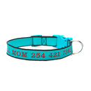Muka Personalized Embroidered Nylon Pet Collar with Pet Name and Phone Number