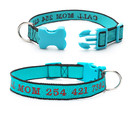 Muka Nylon Personalized Pet Collar Embroidered with Pet Name and Phone Number