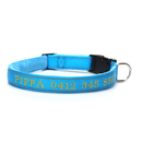 Muka Personalized Reflective stitching Dog Collar Custom Embroidered Pet ID for Boy & Girl Dogs, Adjustable Sizes
