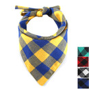 Muka Classic Plaid Pet Scarf Washable and Adjustable Bandana for Dogs / Cats