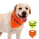 Muka Reflective Safety Pet Triangle Bandana Washable Hook & Loop Scarf for Dog / Cat