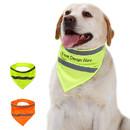 Muka Personalized Printed Pet Reflective Bandana Safety Scarf with Custom Text & Logo