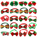 GOGO 20pcs Christmas Small Dog Bow Ties Collar for Christmas Festival, Dog Ties, Dog Grooming Accessories