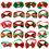 GOGO 20pcs Christmas Small Dog Bow Ties Collar for Christmas Festival, Dog Ties, Dog Grooming Accessories