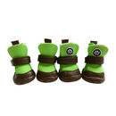 GOGO Cute PU Leather Pet Boots, Pet Shoes With Velcro Closure