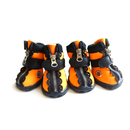 GOGO Breathable Zipper Boots For Pets Faux Leather Dog Shoes