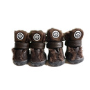 GOGO PU Leather Dog Boots Winter-Proof Boots for Dogs, Brown