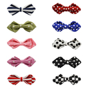 TopTie Colorful Dog Bow Tie Floral Plaid Pet Grooming Accessories, Set of 10