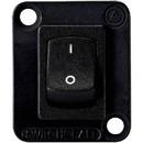 Switchcraft EHRRSLB Curved Rocker Switch I/O DPDT Black with 4-40 screws