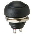 Parts Express Momentary N.O. Raised Push Button Switch Black