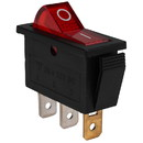 Parts Express SPST Large Rocker Switch w/Red Illumination 12 VDC