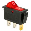 Parts Express SPST Large Rocker Switch w/Red Illumination 125VAC