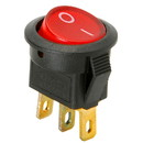 Parts Express SPST Mini Round Rocker Switch w/Red Illumination 125VAC