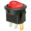 Parts Express SPST Round Rocker Switch w/Red Illumination 125VAC