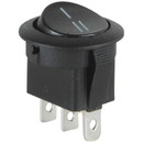 Parts Express SPDT Automotive Round Rocker Switch Black