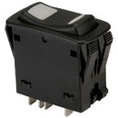 NTE 54-158 DPDT Waterproof Dual Color Illuminated Center-Off Momentary Rocker Switch (On)/Off/(On)