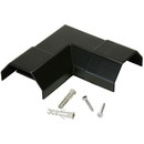 Parts Express Cable Cover Right Angle 50 x 26 mm Black
