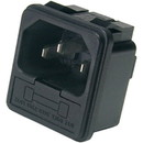 Parts Express IEC AC Power Jack Chassis Mount with 10A Fuse Holder