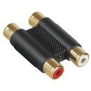Parts Express Gold Dual RCA Jack To RCA Jack Adapter