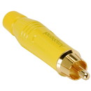 Amphenol ACPR-YEL Diecast RCA Connector Yellow with Gold Contacts